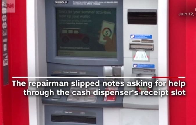 Cash machine, Bank, Repair Man, News