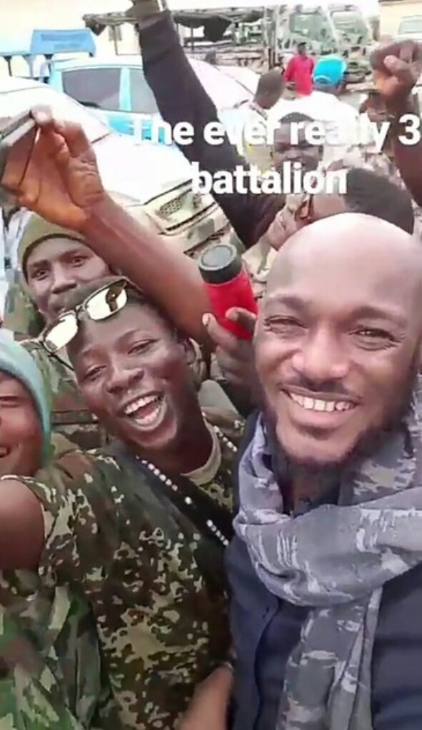2face Visits Soldiers And Internally Displaced Persons In MaiduguriÂ