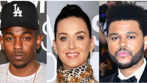 Kendrick Lamar, Katy Perry And The Weeknd Lead Nominations At 2017 MTV VMAs