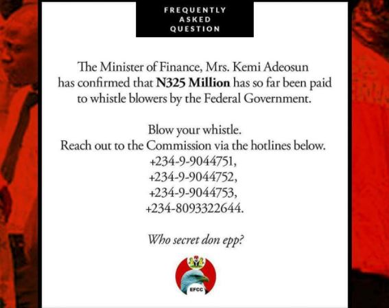 See How Much Nigerian Government Has Spent So Far On Whistle-Blowers