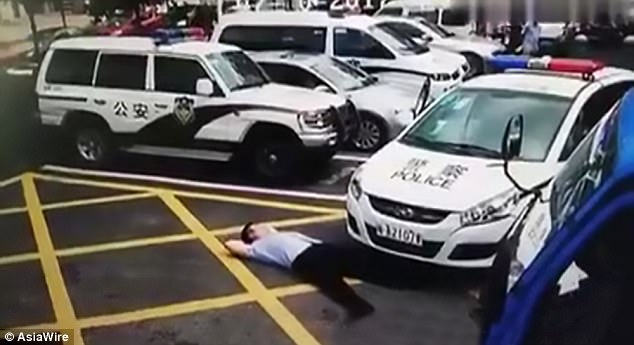 Hilarious Video! Conman Pretends He'd Been Hit By A Police Car To Get Compensation