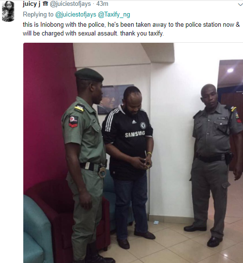 Taxify Driver Accused Of Molesting His Female Passenger Has Been Arrested And Will Be Charged To Court Soon (photo)
