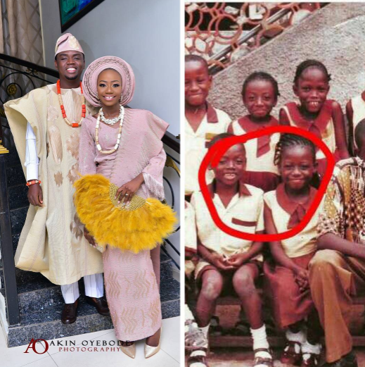 Photos: Nigerian Couple Who Met In Primary School Wed