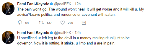 """You Sacrificed Your Left Leg To The Devil Just To Be Governor' - FFK Spits Fire"