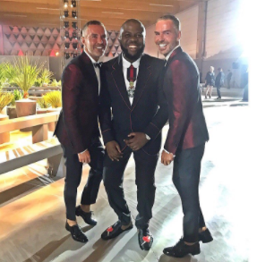 """I Am Your King"" Hushpuppi Tells Nigerians Who Criticize His Lifestyle As He Poses With Dsquared2's Dean And Dan"