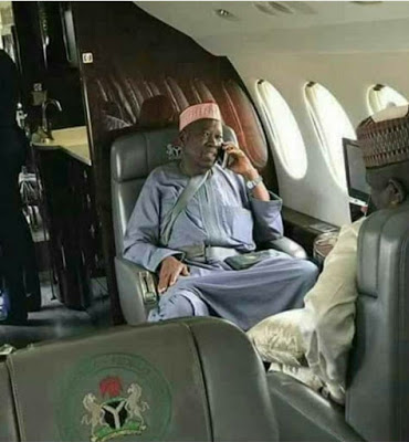 "Photos: Kano State Government Reacts To Viral Photo Of State Governor's ""wrong"" Use Of Private Jet Seatbelt"