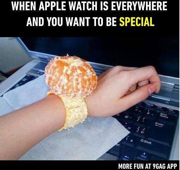 Photo: When You Can't Afford An Apple Wrist Watch So You Get A Tangerine Watch