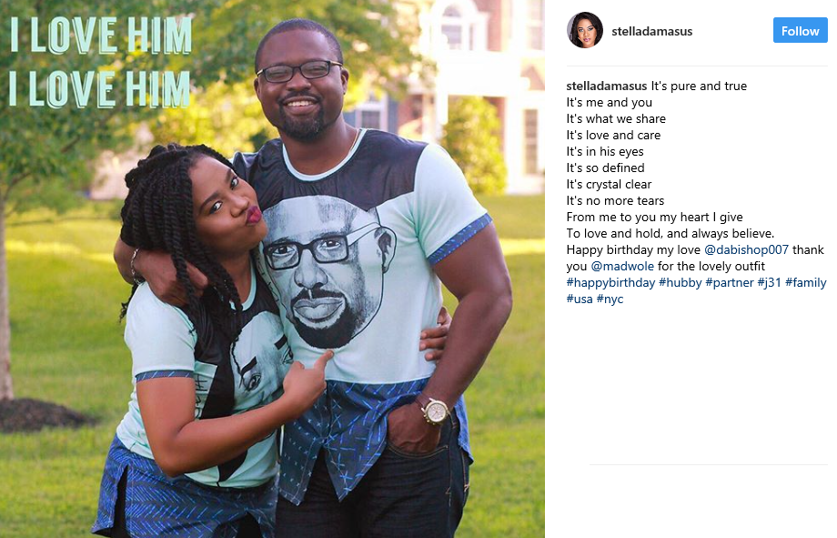 Stella Damasus praises her husband who turned a year older
