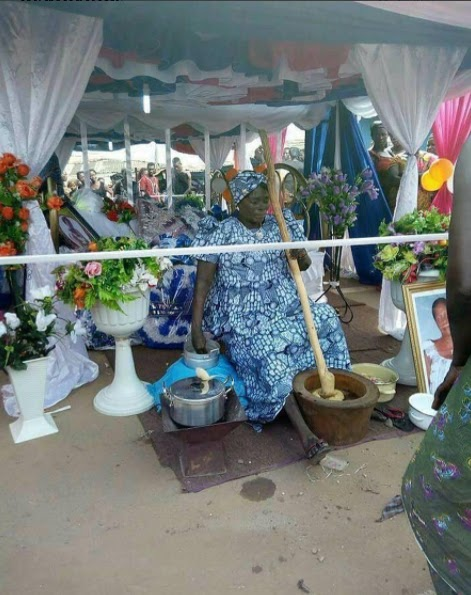 See this lying-in-state photo of a food vendor in Ghana that has since gone viral