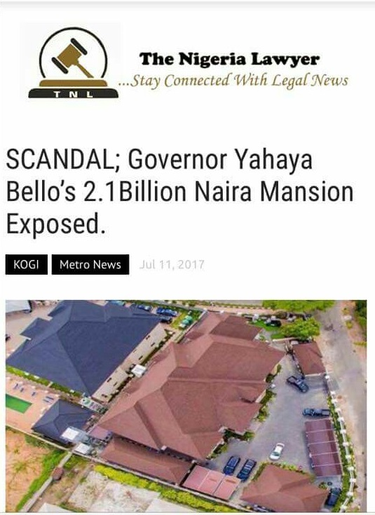 Alleged photos of Governor Yahaya Bello's N2.1b Abuja mansion