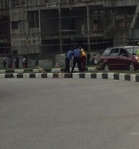 TRENDING VIDEO:: Police and LAWMA fight in Lekki