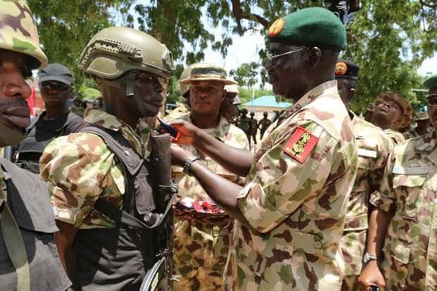 Photos: Chief of Army Staff, Lt.Gen. Buratai decorates 63 soldiers, 2 officers with gallantry medals