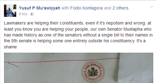Man criticizes Niger State Senator for recommending a non indigene for employment