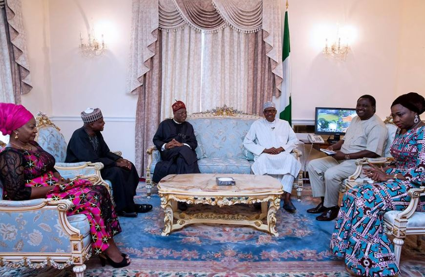Buhari visited in London by some of his top Aides