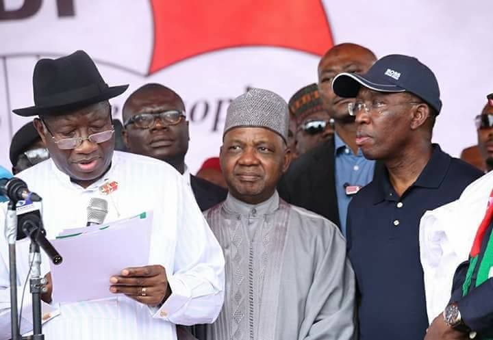 even God believes in PDP- Goodluck Jonathan says