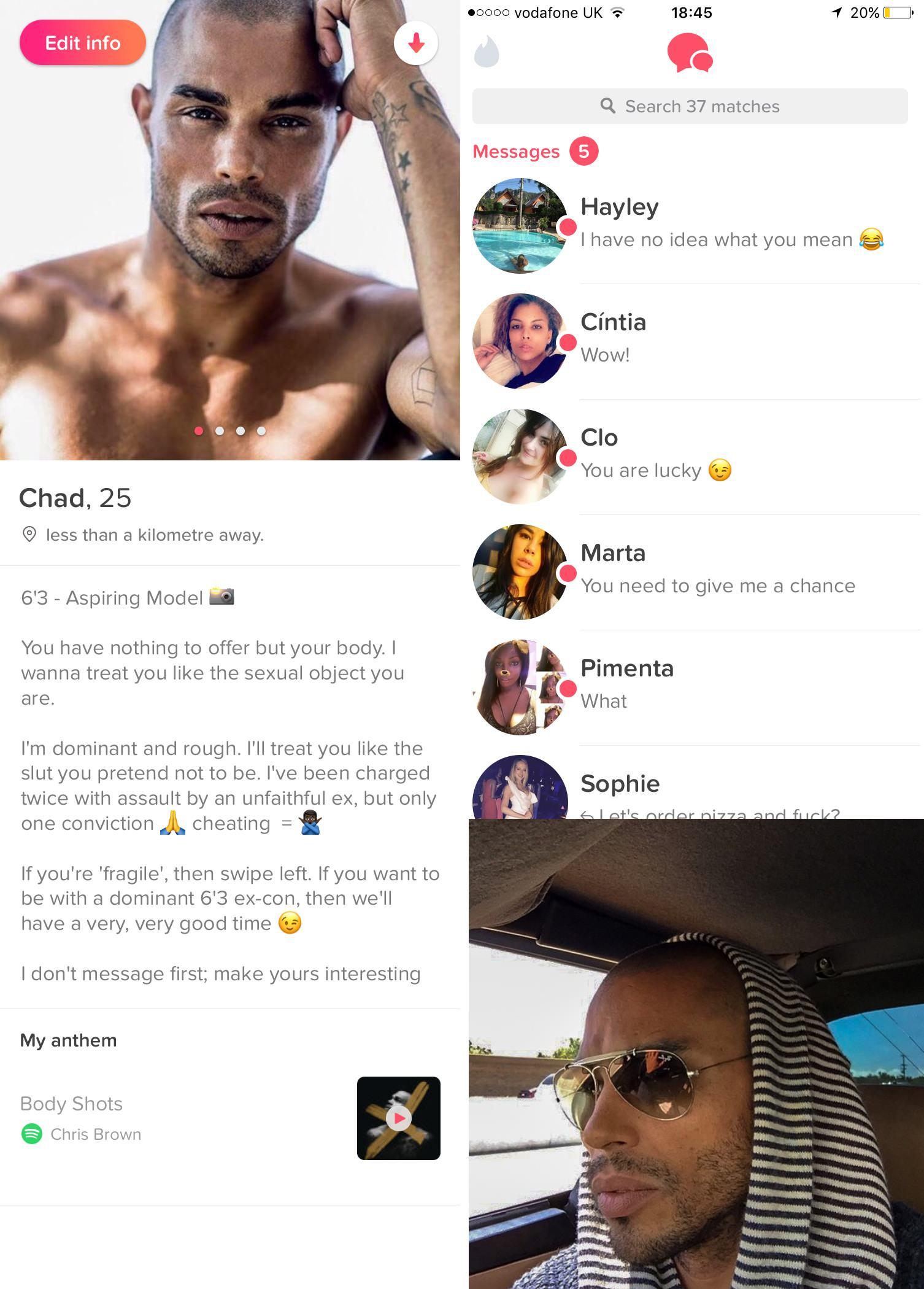 Tinder fake profile experiment