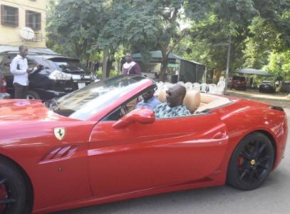 Photos of Dino Melaye in his Red Ferrari