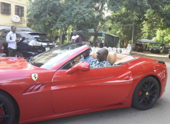 Photos of Dino Melaye in his Red Ferrari