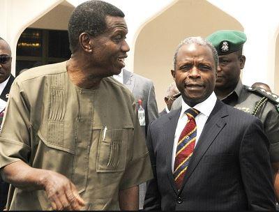 Image result for yemi osinbajo and pastor adeboye