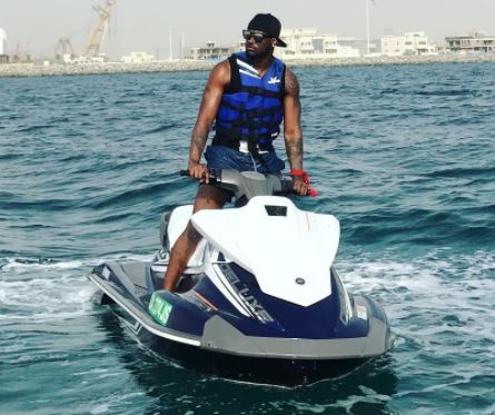 Photos: Peter Okoye goes jet skiing during vacation in Dubai