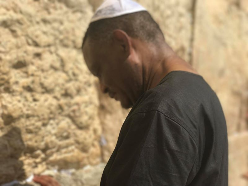 Photos: Estranged husband of relationship expert, Amara Blessing Nwosu, Francis Van-Lare, goes on pilgrimage in Israel