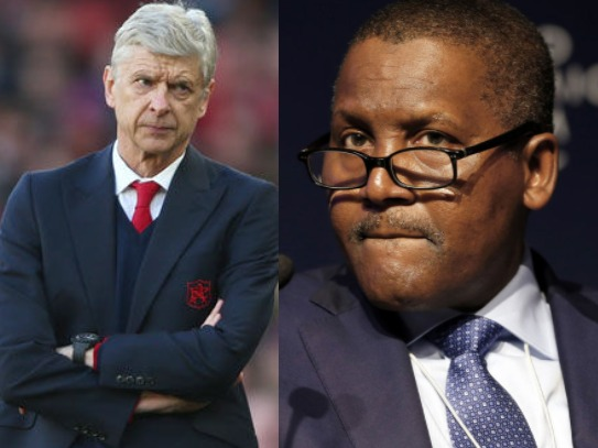 If I buy Arsenal, the first thing I will do is to fire Wenger- Aliko Dangote says