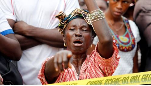 Photos Of Mass Burial Of Sierra Leone Mudslide Victims