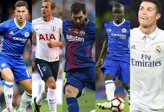 Hazard, Kante, Kane & others join Ronaldo & Messi on 24-Man shortlist for Best FIFA Men's Playe