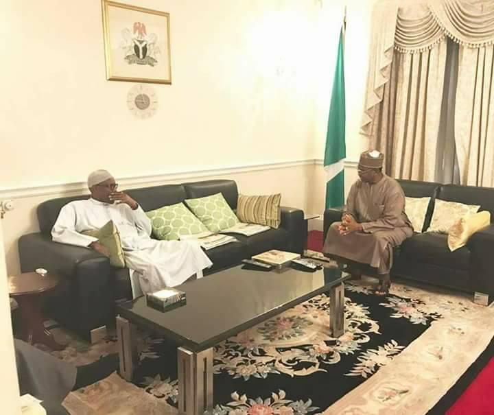 Alhaji Bashir Usman Tofa visits Buhari in London