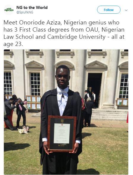 3 first class degrees