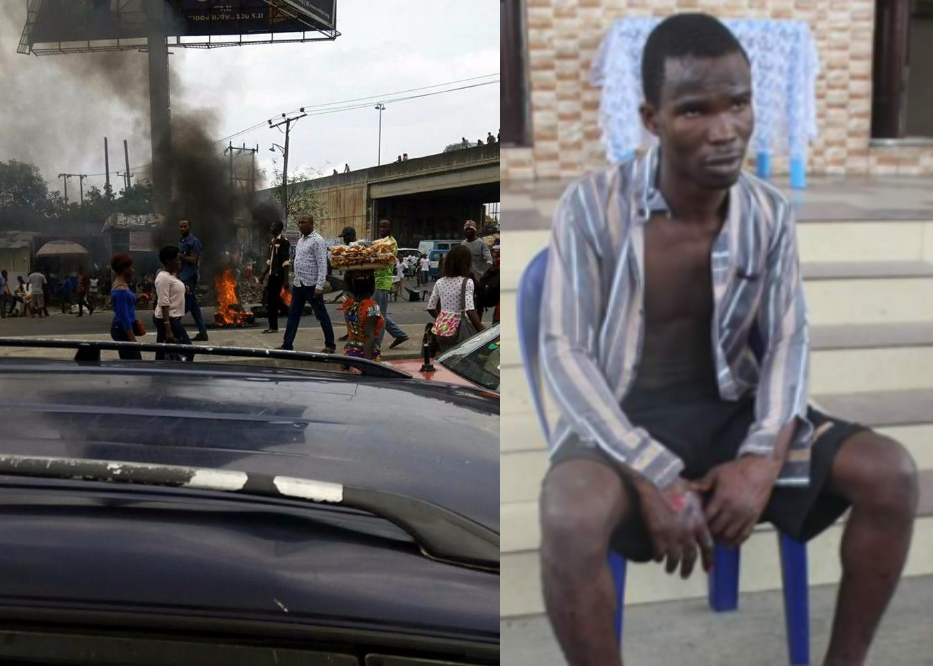 Photos: Protest in Rivers state over the escape of UNIPORT undergraduate who murdered 8yr old girl