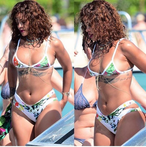 Rihanna Adding Weight , See This Amazing Pictures.