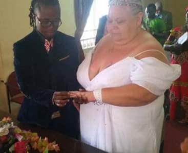Photos: Young Sierra Leonean singer weds older white woman