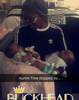 Tiwa Savage also pays a visit to new parents; Freda Francis, Paul Okoye & Anita Okoye