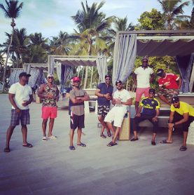It's confirmed! BankyW and his close friends are indeed on a Bachelor's Trip to Punta Cana (photos)