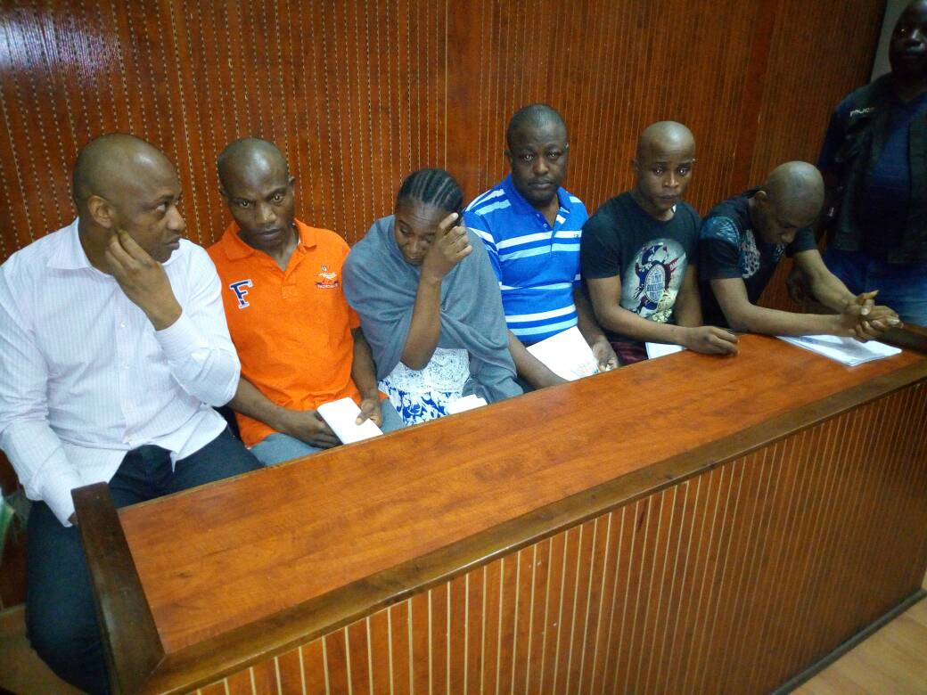 Photos of popular kidnapper Evans in court
