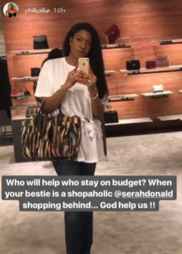 Nollywood actress, Chika Ike goes on a shopping spree in Vegas (Photos)