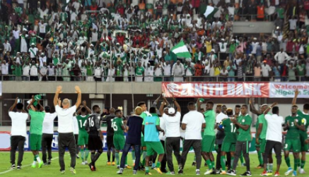 Super Eagles players to receive N20m for the four goals they scored against Cameroon during yesterday's match- Solomon Dalung says