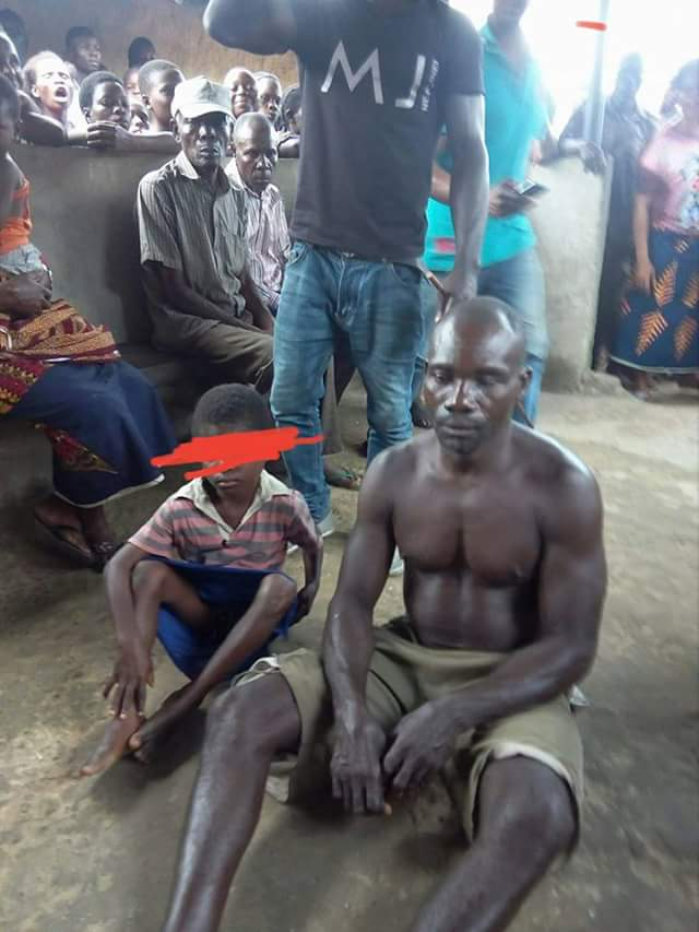 Photos: A 45-Year Old Man Caught Raping 7-Year-Old Girl In Bayelsa.