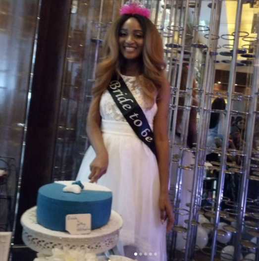 Photos/video from ex-beauty queen, Powede Lawrence's surprise bridal shower