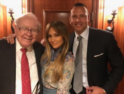 Jennifer Lopez & beau A-Rod celebrate with billionaire Warren Buffett on his 87th brithday