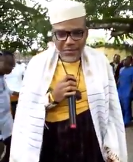 Video: The man you are looking at on the television is not Buhari, he is from Sudan- IPOB leader, Nnamdi Kanu says