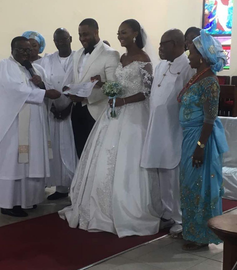 Photos from Ex Beauty Queen Powede Lawrence's white wedding