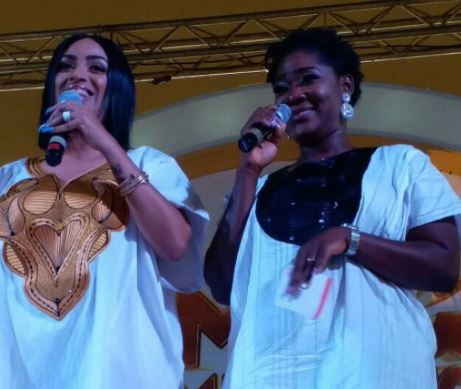 Photos: Mercy Johnson and Juliet Ibrahim slay in matching outfits