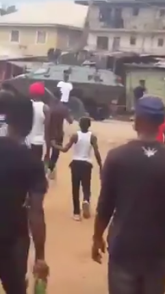 Videos: Nigerian Army invades Nnamdi Kanu's home in Abia state...