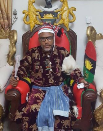 Photos: Nnamdi Kanu decorated as the 'Greatest Warrior' of Biafra Land