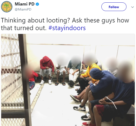 Miami Police arrests several people who robbed stores during Hurricane IRMA