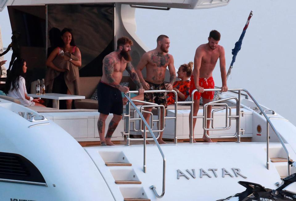 Conor McGregor enjoys luxury yatch holiday with family/friends in Ibiza after banking £100m post-Mayweather fight