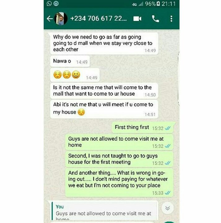'Stop acting like a random hungry b*tch' - Nigerian man tells lady who refused to come over to his house for their first date