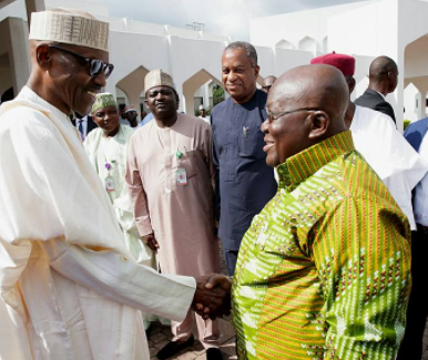 Photos: President Buhari receives Ghanaian president, Nana Akufo-Addo, at the state house in Abuja